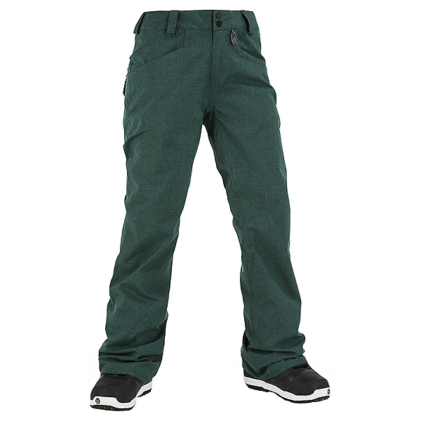Volcom Transfer Womens Snowboard Pants, Midnight Green, 600