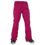 Volcom Transfer Womens Snowboard Pants, Maroon, medium