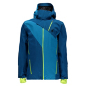 Spyder Highlands Mens Insulated Ski Jacket (Previous Season), Concept Blue-Electric Blue, medium