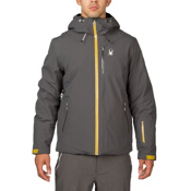 Spyder Pryme Mens Insulated Ski Jacket, Polar-Brazen, medium