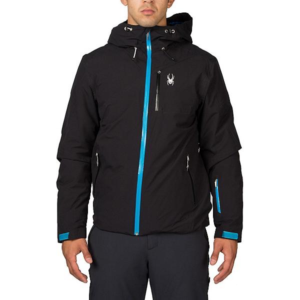 Spyder Pryme Mens Insulated Ski Jacket (Previous Season), Black-Electric Blue, 600
