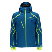 Spyder Esper Mens Insulated Ski Jacket, Concept Blue-Bryte Yellow, medium