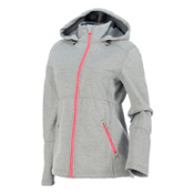 Spyder ARC Novelty Womens Soft Shell Jacket, Image Gray Stripe Fabric, medium