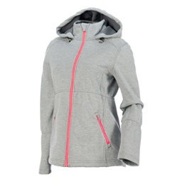 Spyder ARC Novelty Womens Soft Shell Jacket (Previous Season), Image Gray Stripe Fabric, 256