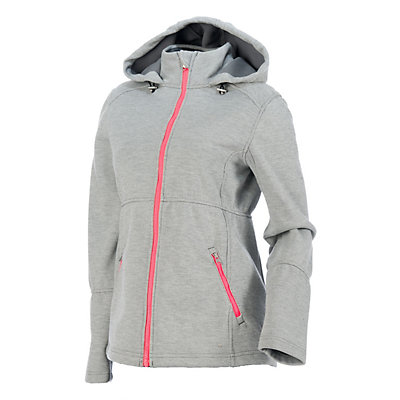 Spyder ARC Novelty Womens Soft Shell Jacket (Previous Season), Image Gray Stripe Fabric, viewer