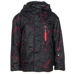 Etirel Alvin Toddler Ski Jacket, Black-Red, 256