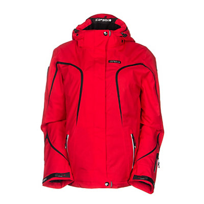 Icepeak Mei Womens Insulated Ski Jacket, Red, viewer