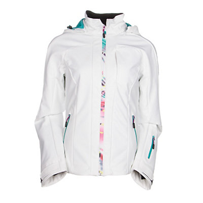 McKinley Perform Womens Soft Shell Jacket, White, viewer