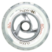 Hyper Dubbs Inline Skate Wheels, Clear, medium