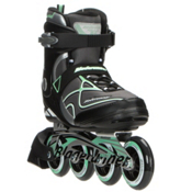 Bladerunner Formula 84 Womens Inline Skates 2017, Black-Light Green, medium
