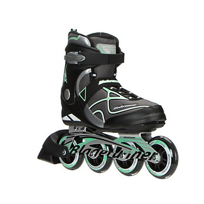 Bladerunner Formula 84 Womens Inline Skates 2017, Black-Light Green, viewer