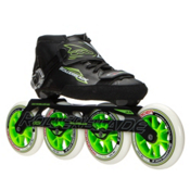 Rollerblade Powerblade 195 Race Skate, Black-Green, medium