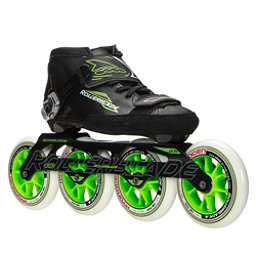 Rollerblade Powerblade 195 Race Skate, Black-Green, 256
