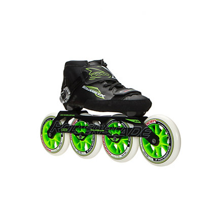 Rollerblade Powerblade 195 Race Skate, Black-Green, viewer