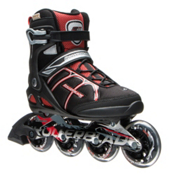 Rollerblade Macroblade 84 ALU Inline Skates 2017, Black-Red, medium