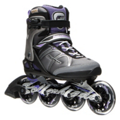 Rollerblade Macroblade 84 ALU Womens Inline Skates 2016, Black-Purple, medium