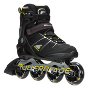 Rollerblade Macroblade 80 ALU Inline Skates 2017, Black-Yellow, medium