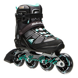 Rollerblade Macroblade 80 ALU Womens Inline Skates 2017, Black-Light Green, 256