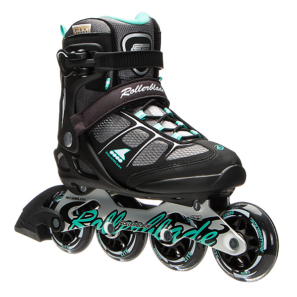 Rollerblade Macroblade 80 ALU Womens Inline Skates 2017, Black-Light Green, 600
