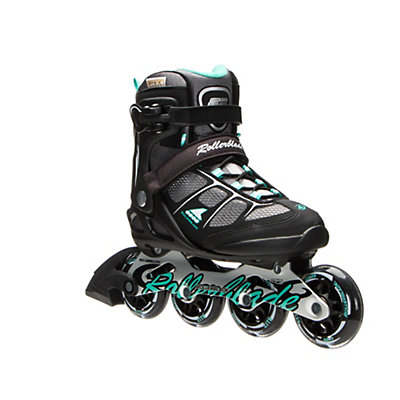 Rollerblade Macroblade 80 ALU Womens Inline Skates 2017, Black-Light Green, viewer