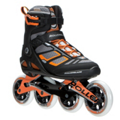 Rollerblade Macroblade 100 Inline Skates 2017, Black-Orange, medium
