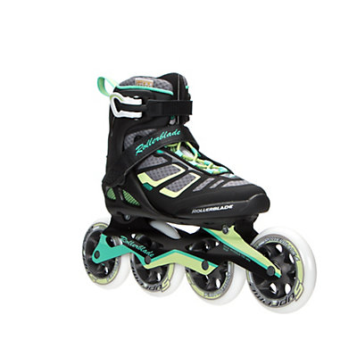 Rollerblade Macroblade 100 Womens Inline Skates 2017, Black-Light Green, viewer