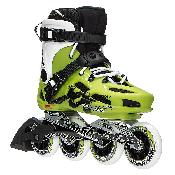 Rollerblade Maxxum 84 Urban Inline Skates 2017, Acid Green-White, 600
