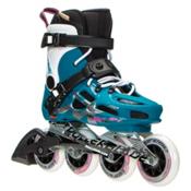 Rollerblade Maxxum 84 Womens Urban Inline Skates 2017, Petrol Blue-White, medium