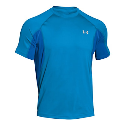 Under Armour Coolswitch Trail Short Sleeve Mens T-Shirt, Electric Blue-Glacier Gray, viewer
