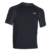 Under Armour Coolswitch Trail Short Sleeve Mens T-Shirt, Black-Glacier Gray, medium