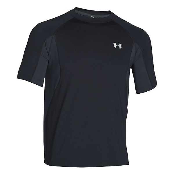 Under Armour Coolswitch Trail Short Sleeve Mens T-Shirt, Black-Glacier Gray, 600