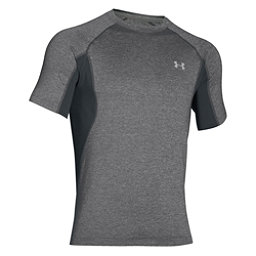 Under Armour Coolswitch Trail Short Sleeve Mens T-Shirt, Granite-Glacier Gray, 256