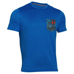 Under Armour Flow Tee Mens T-Shirt, Ultra Blue-Rocket Red, 256