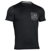 Under Armour Flow Tee Mens T-Shirt, Black-Amalgam Gray, medium