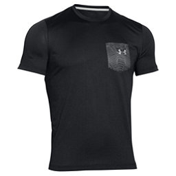 Under Armour Flow Tee Mens T-Shirt, Black-Amalgam Gray, 256