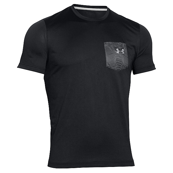 Under Armour Flow Tee Mens T-Shirt, Black-Amalgam Gray, 600