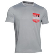 Under Armour Flow Tee Mens T-Shirt, Amalgam Gray-Anthracite, medium