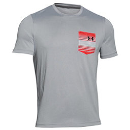 Under Armour Flow Tee Mens T-Shirt, Amalgam Gray-Anthracite, 256