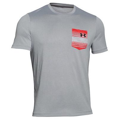 Under Armour Flow Tee Mens T-Shirt, Ultra Blue-Rocket Red, viewer