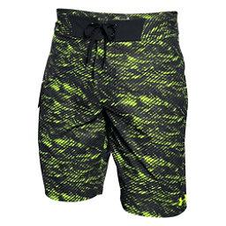 Under Armour Reblek Mens Board Shorts, Fuel Green, 256