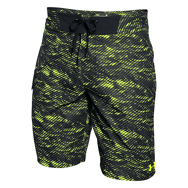 Under Armour Reblek Mens Board Shorts, Fuel Green, 600