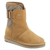 Sorel Newbie Suede Leather Womens Boots, Curry, medium