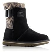 Sorel Newbie Chevron Womens Boots, Black, medium