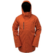 Ride Laurelhurst Mens Insulated Snowboard Jacket, Burnt Orange Herringbone, medium