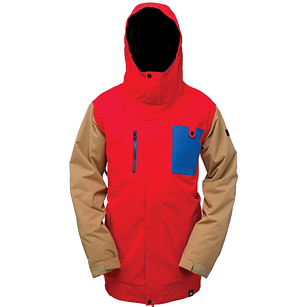 Ride Laurelhurst Mens Insulated Snowboard Jacket, Red Rover Twill, 600