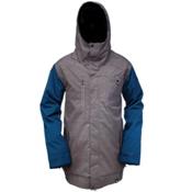 Ride Laurelhurst Mens Insulated Snowboard Jacket, Gray Storm Herringbone, medium
