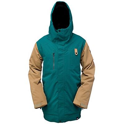 Ride Laurelhurst Mens Insulated Snowboard Jacket, Black Olive Slub, viewer
