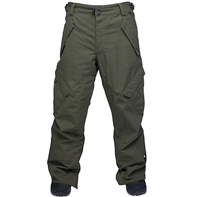 Ride Phinney Shell Mens Snowboard Pants, Black Olive Slub, viewer