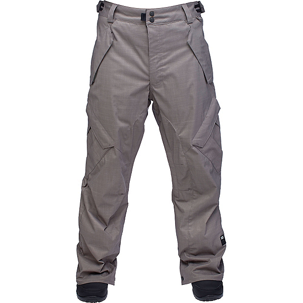 Ride Phinney Shell Mens Snowboard Pants, Gray Storm Herringbone, 600