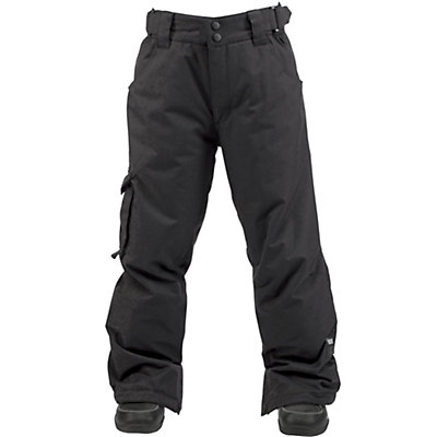 Ride Charger Kids Snowboard Pants, Black Twill, viewer